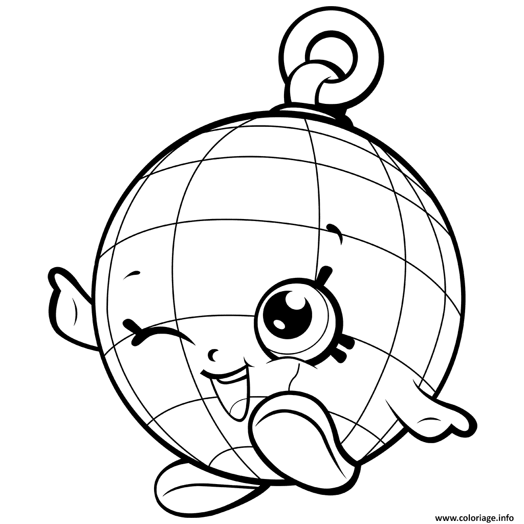 1024x1024 Disco Ball Coloring Page