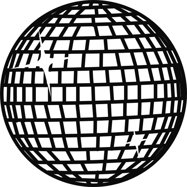 600x600 Disco Ball Coloring Page
