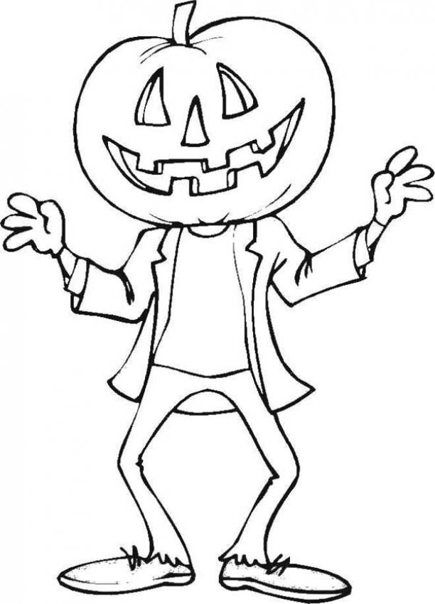 612x850 Disco Strawman Coloring Page Halloween