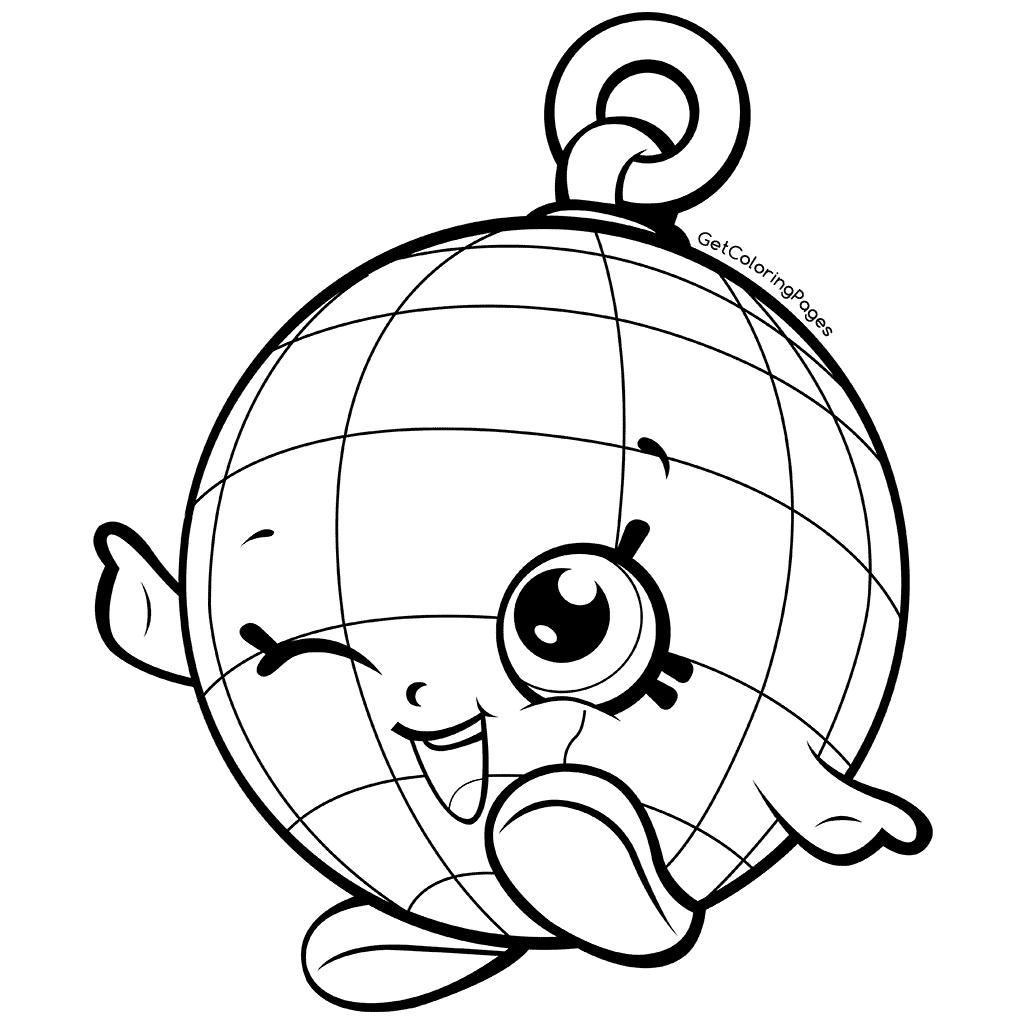1024x1024 New Disco Party Shopkins Disco Ball Coloring Pages