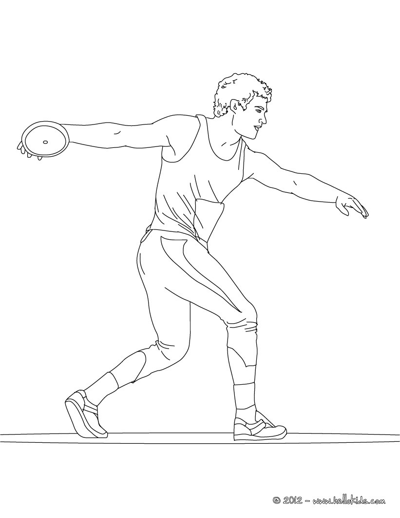 821x1061 There Is The Discus Throw Athletics Coloring Page Original