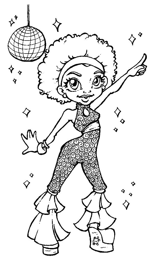 616x1024 Disco Girl Patterns For Art N Crafts Discos