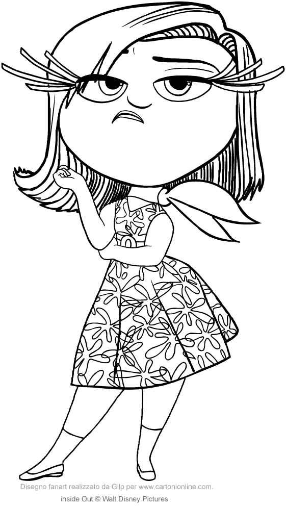 561x992 Inside Out Coloring Disgust Inside Out Coloring Pages X