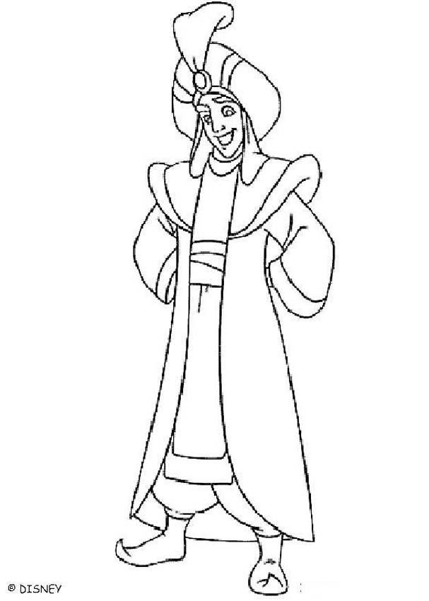 607x850 Aladdin Coloring Pages