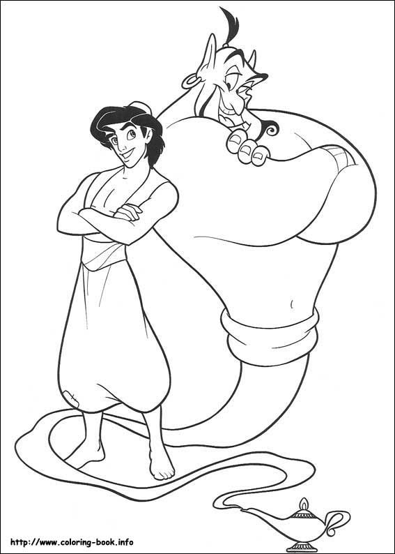567x794 Aladdin Coloring Picture Disney's Princess Coloring Pages