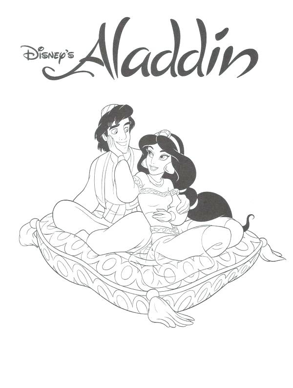 600x793 Disney Aladdin Coloring Pages