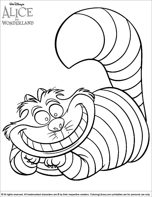 612x792 Alice In Wonderland Coloring Pages Alice In Wonderland Coloring
