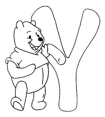 367x409 Coloring Pages Winnie The Pooh Alphabet