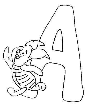 340x413 Coloring Pages Winnie The Pooh Alphabet Abc Pooh