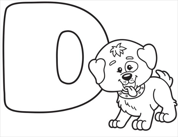 600x462 Alphabet Coloring Pages