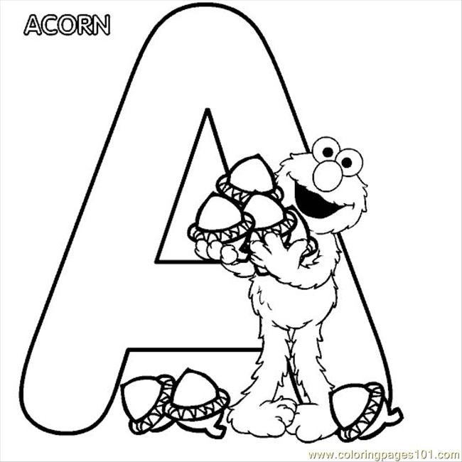 650x650 Elmo Alphabet A Coloring Page Coloring Page