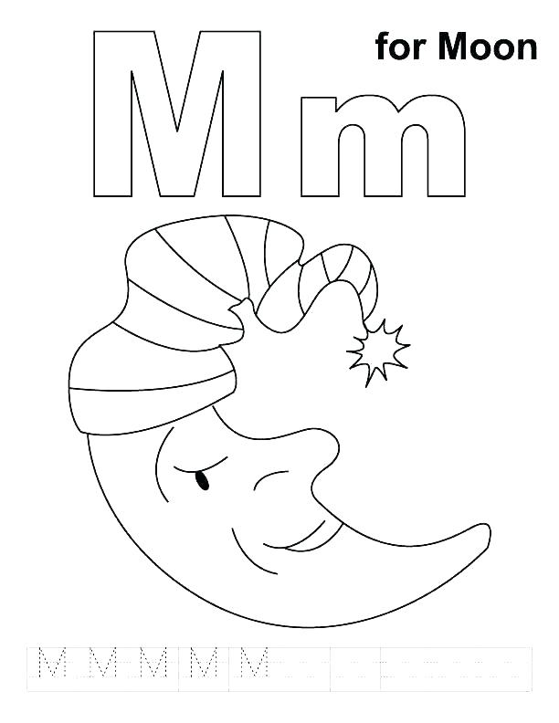 612x792 M Coloring Pages Letter M Coloring Sheet Coloring Letter Pages