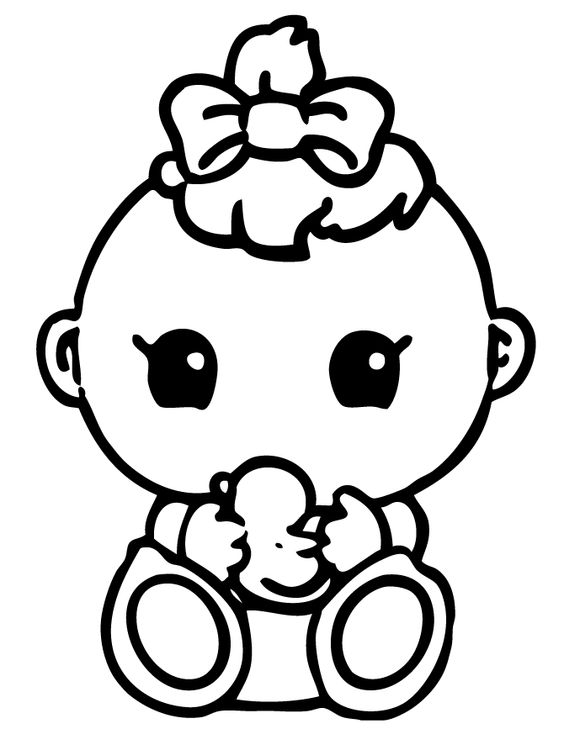 564x729 Enjoyable Design Printable Baby Coloring Pages Baby Coloring