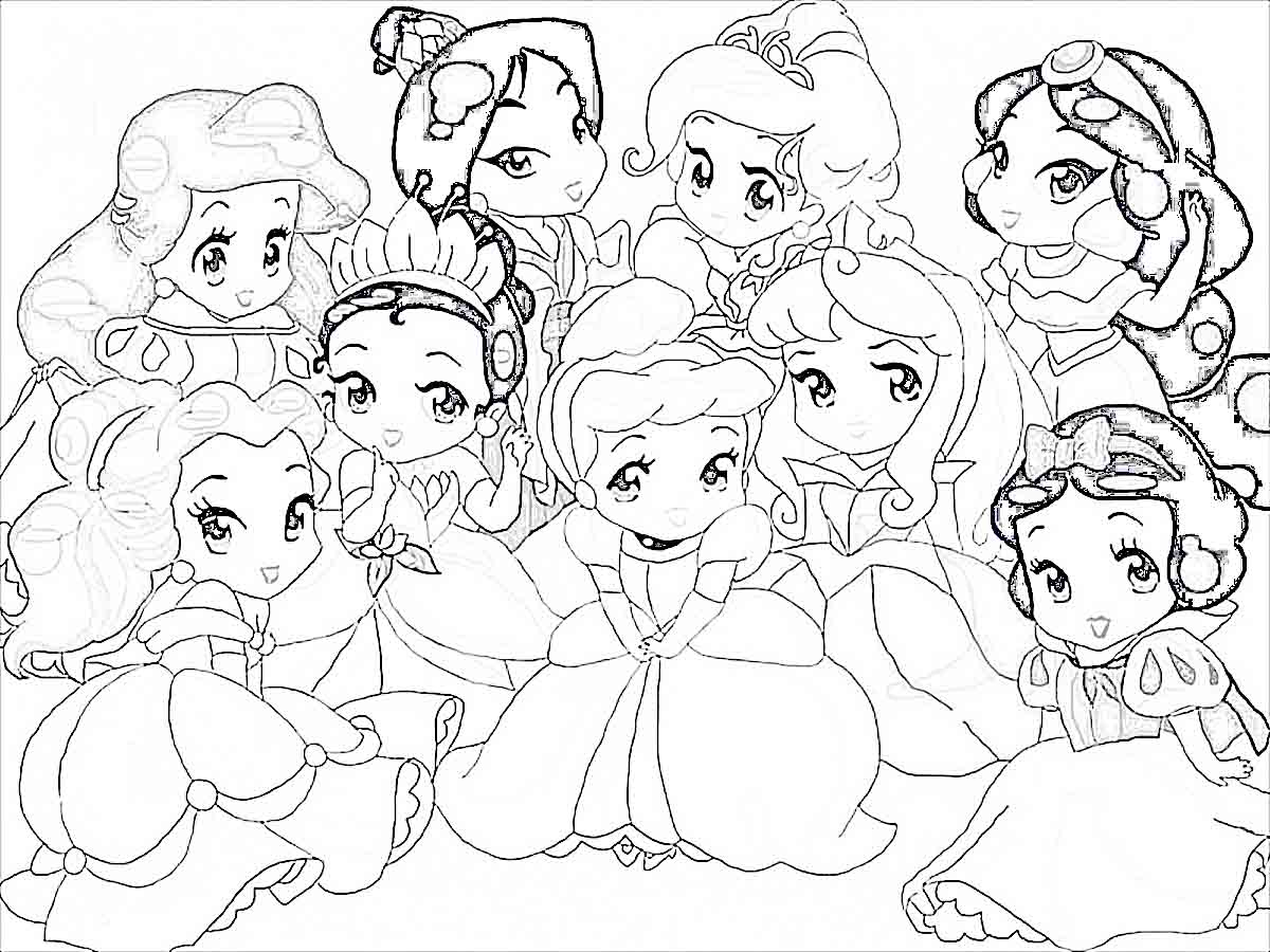 1200x900 Princess Of Disney Coloring Pages Printable In Beatiful Print All