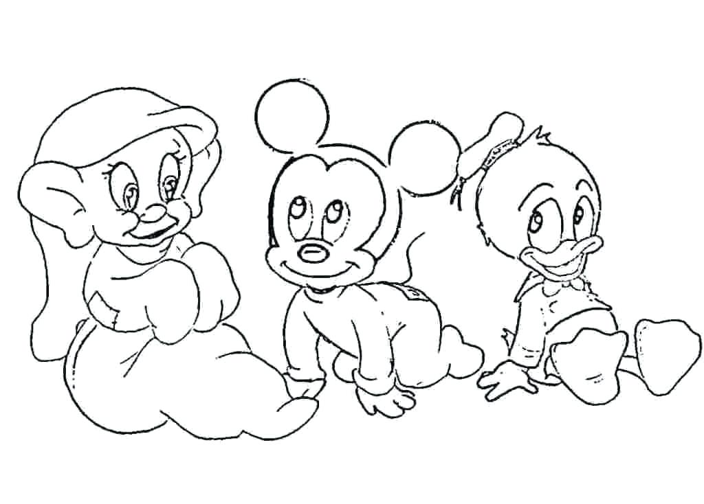 1024x734 Disney Baby Coloring Pages Murs
