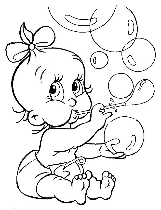 656x852 Baby Coloring Sheets To Print Preschool To Amusing Baby Goofy Cute