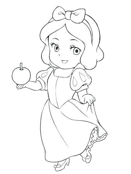 439x581 Baby Disney Princess Coloring Pages
