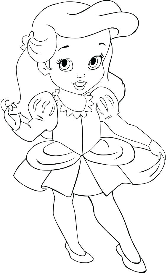 564x924 Baby Princess Coloring Pages Just Disney All