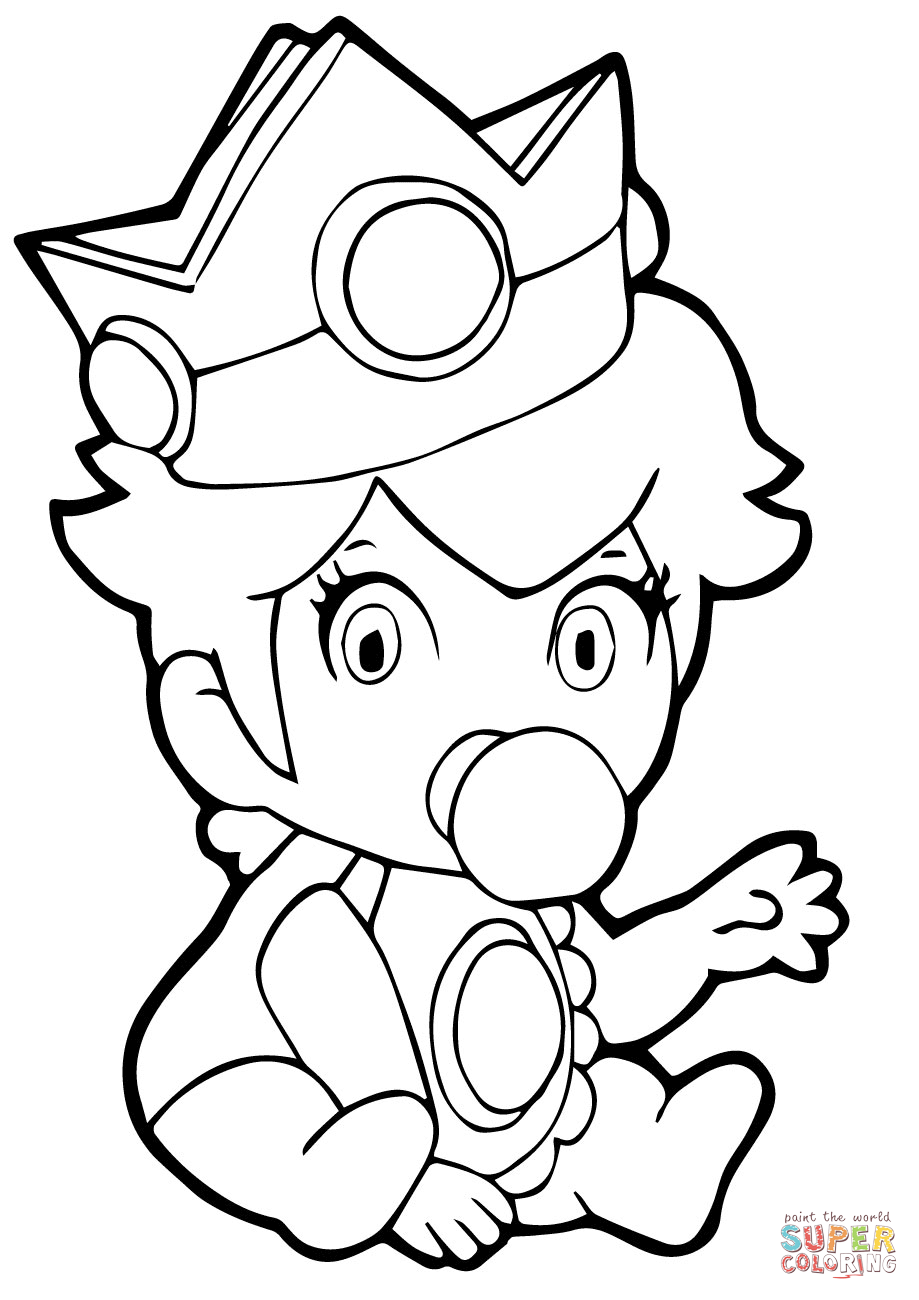 919x1300 Baby Princess Peach Coloring Pages