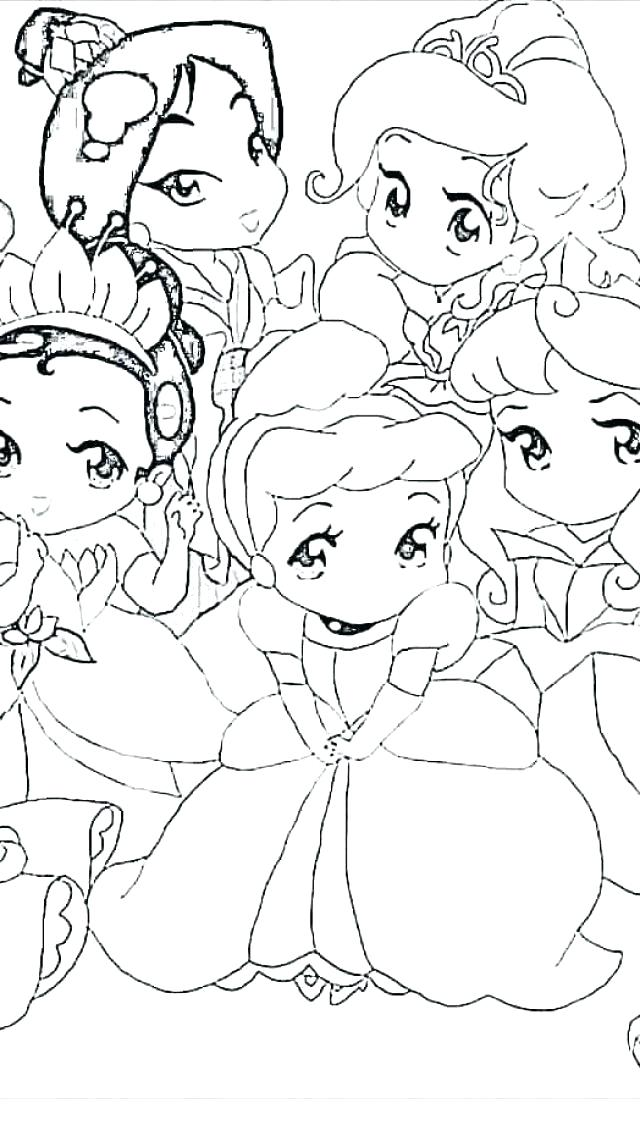 640x1136 Coloring Pages Of Princesses In Disney Baby Princess Coloring