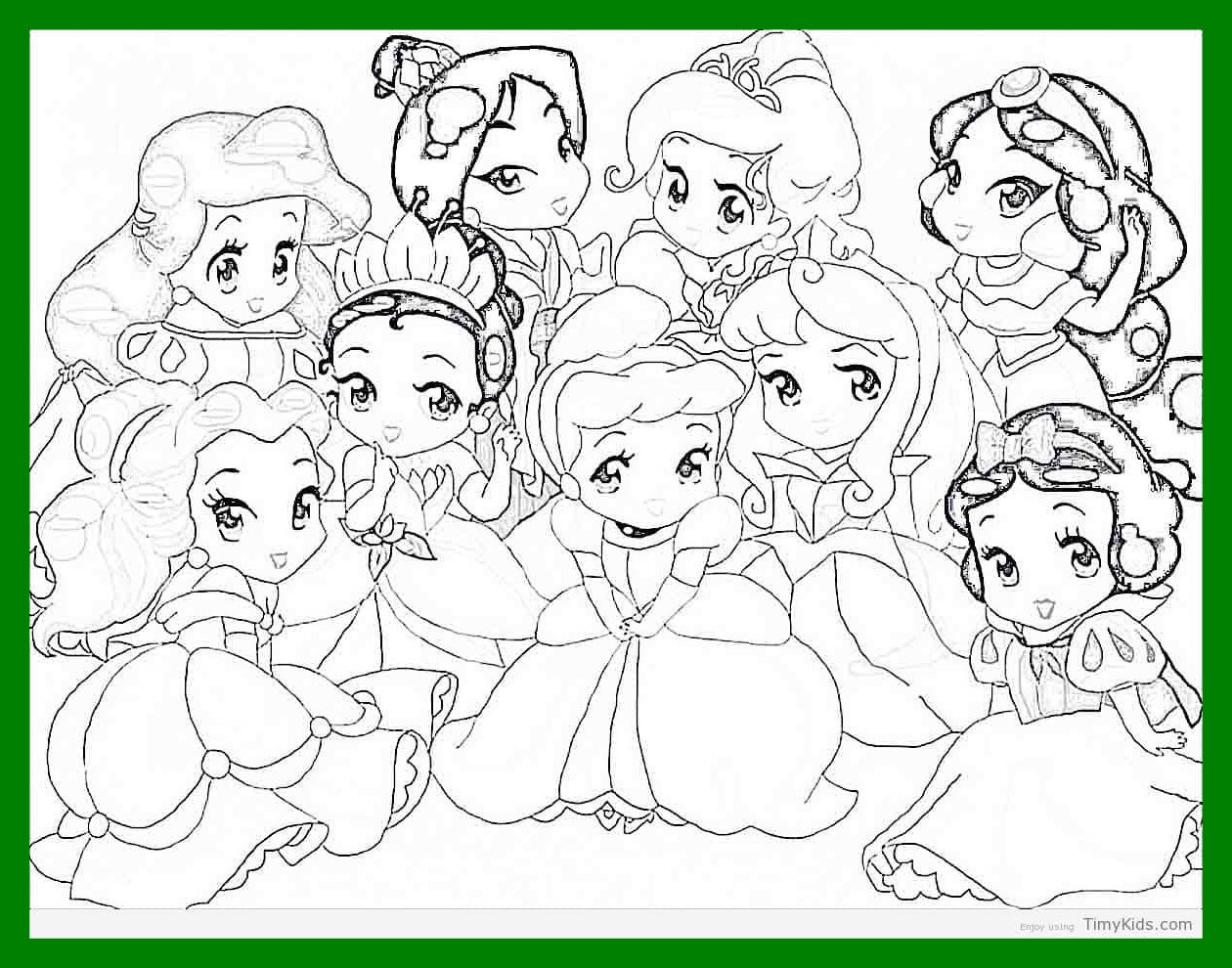 1260x990 Unbelievable Http Timykids Disney Baby Princess Coloring Pages