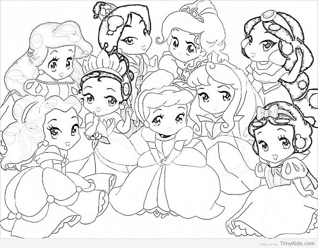 1024x798 Disney Baby Princess Coloring Pages Timykids