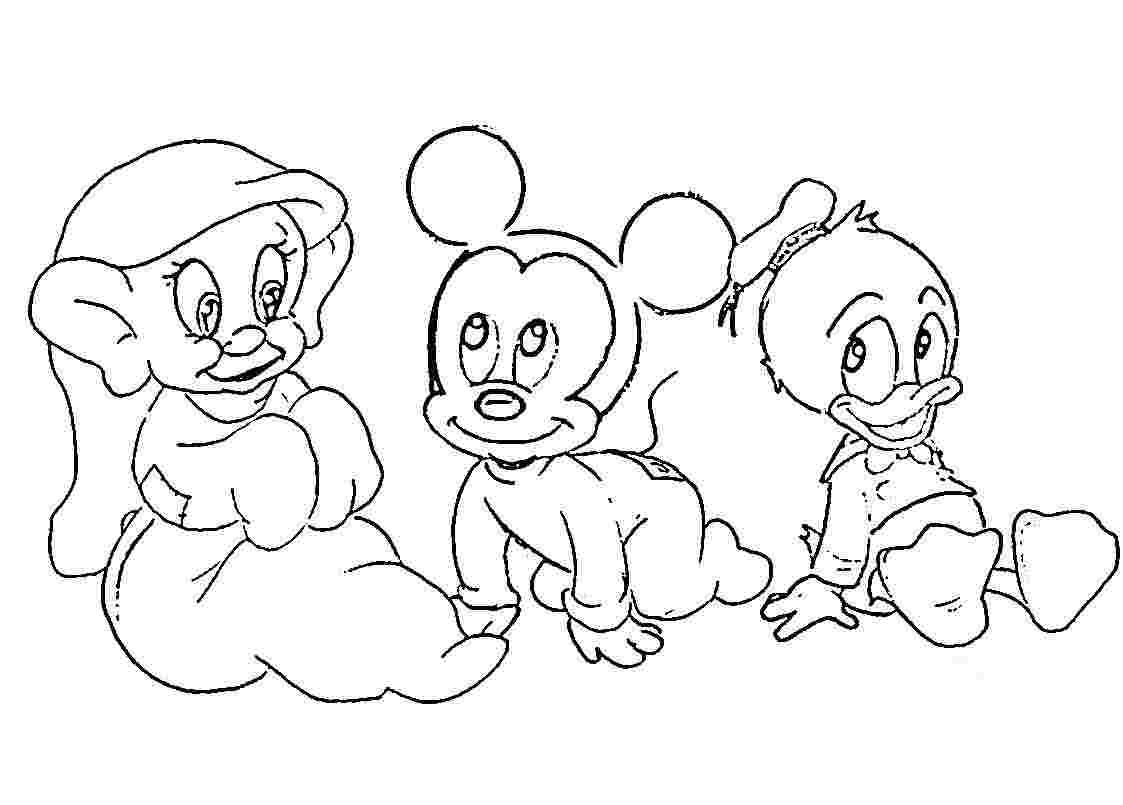 1123x805 All Disney Baby Princess Coloring Pages Collection Free
