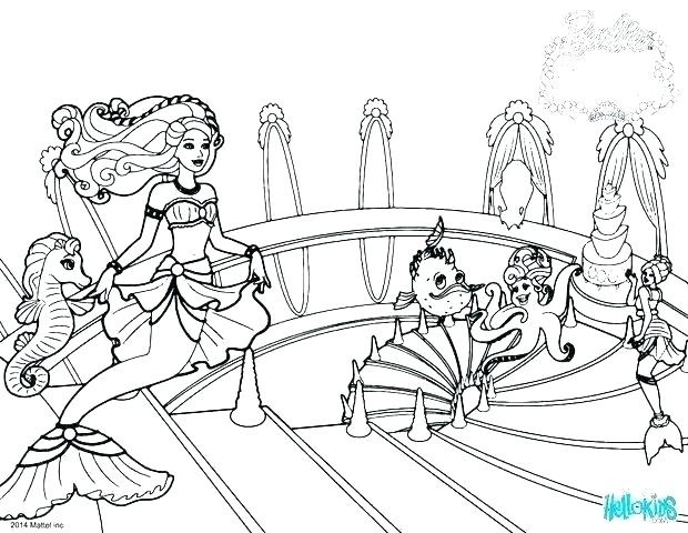 620x480 All Disney Baby Princesses Coloring Pages Color Pages Mermaid
