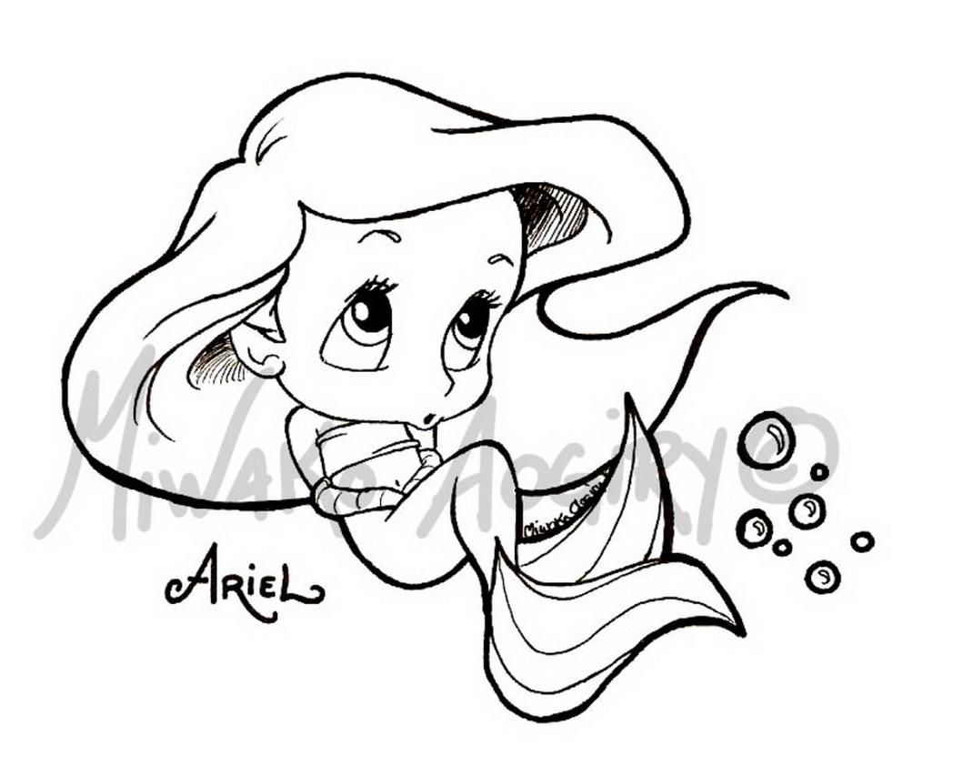 1048x842 Disney Princess Cuties Coloring Pages