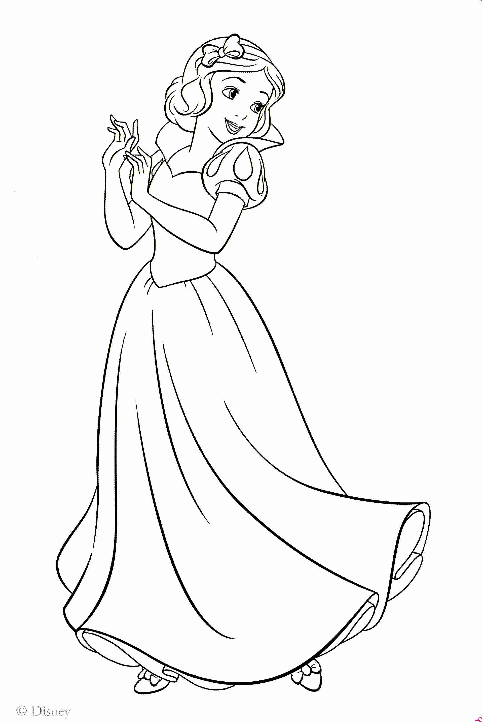 1915x2864 Disney Princess Snow White Coloring Pages Or On Color