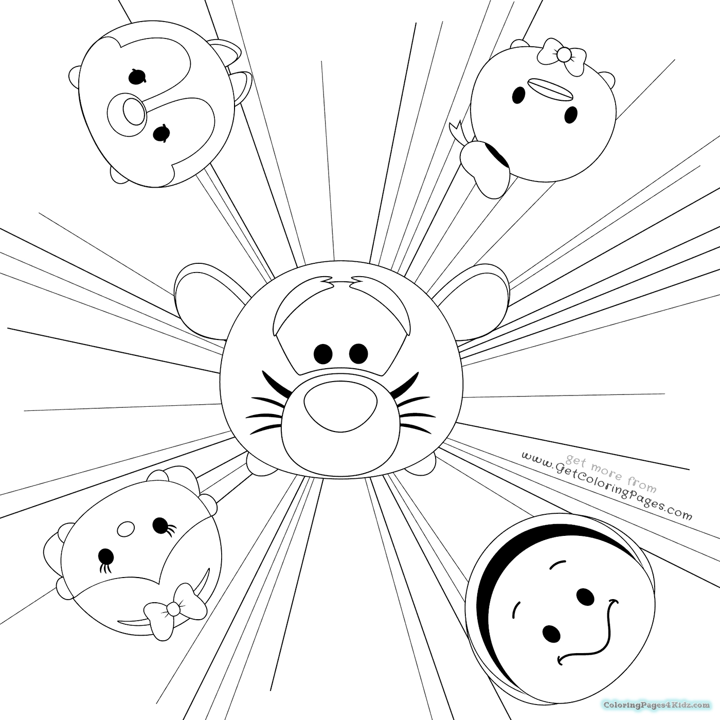 1400x1400 Disney Tsum Tsum Coloring Pages Black And White Collection Free