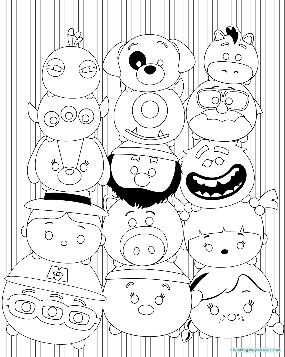 1200x1500 Disney Tsum Tsum Coloring Pages Black And White Collection
