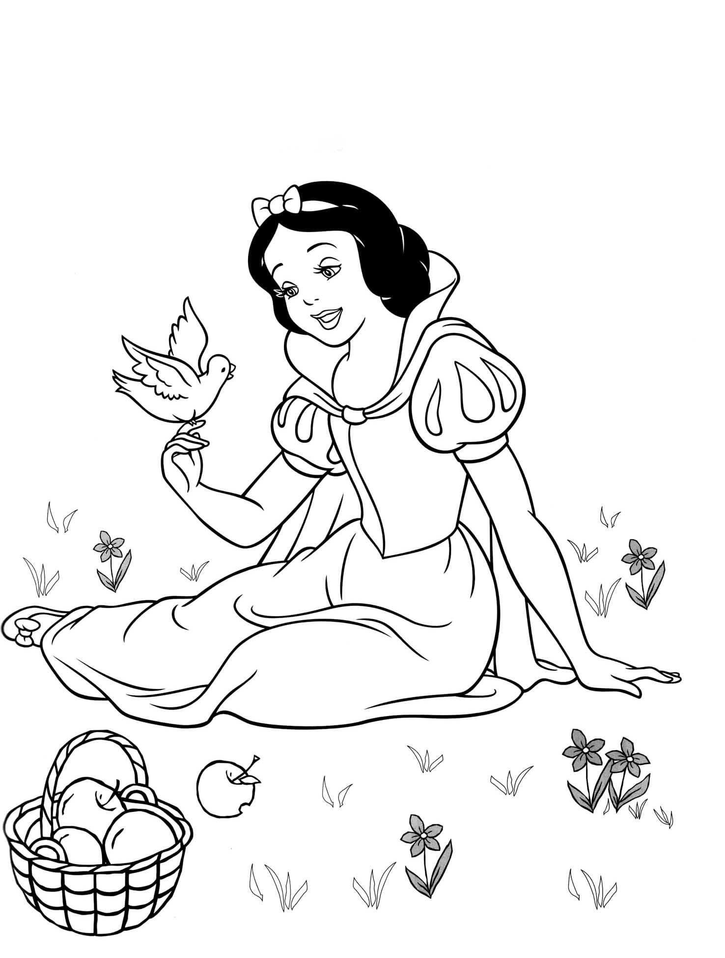 1476x1948 Fascinating Disney Princess Coloring Pages Snow White Pics