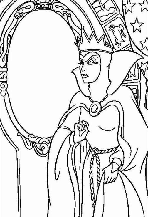 504x737 Snow White Witch Coloring Page