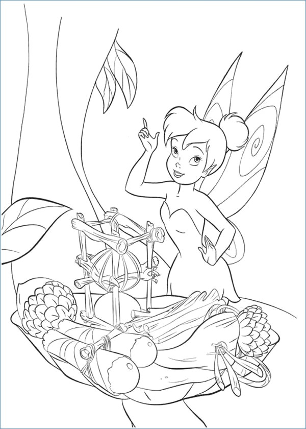 600x840 Tinkerbell Coloring Pages In Black And White