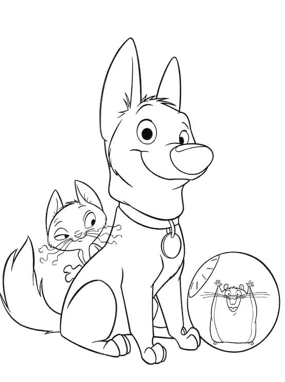Disney Bolt Coloring Pages