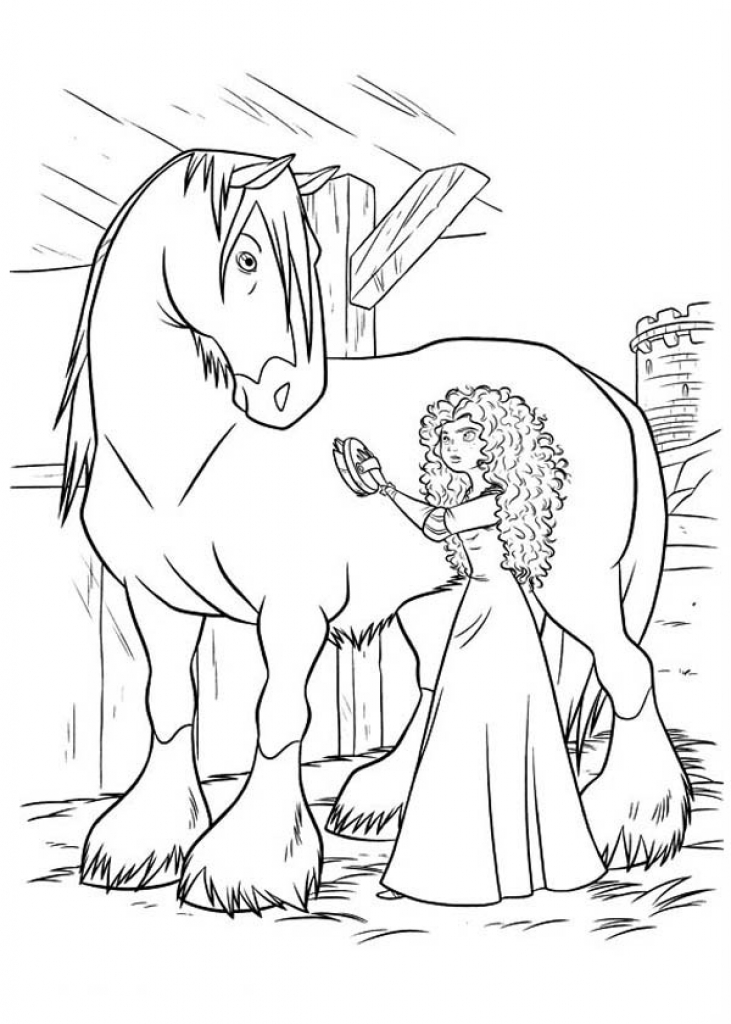 731x1024 Printable Brave Coloring Pages Coloring Me Inside Disney Brave