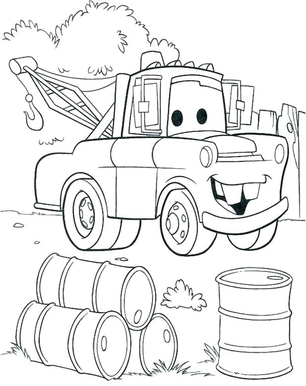 618x778 Mater Cars Coloring Pages Lightning And Tow Mater Coloring Pages