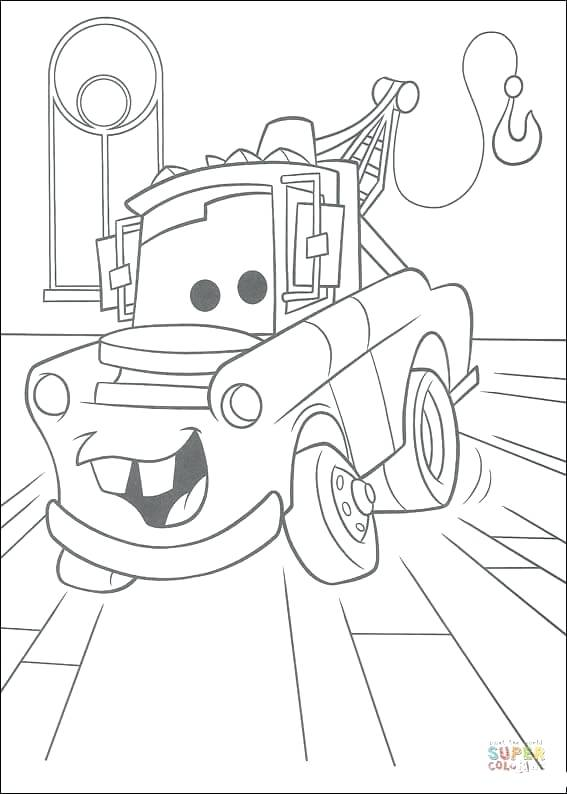 567x794 Mater Coloring Pages Click The Mater Truck Coloring Pages Disney