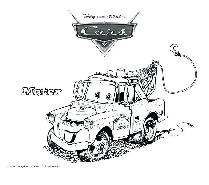 678x600 Tow Mater Coloring Pages Tow Mater Cars Coloring Pages Tow Mater