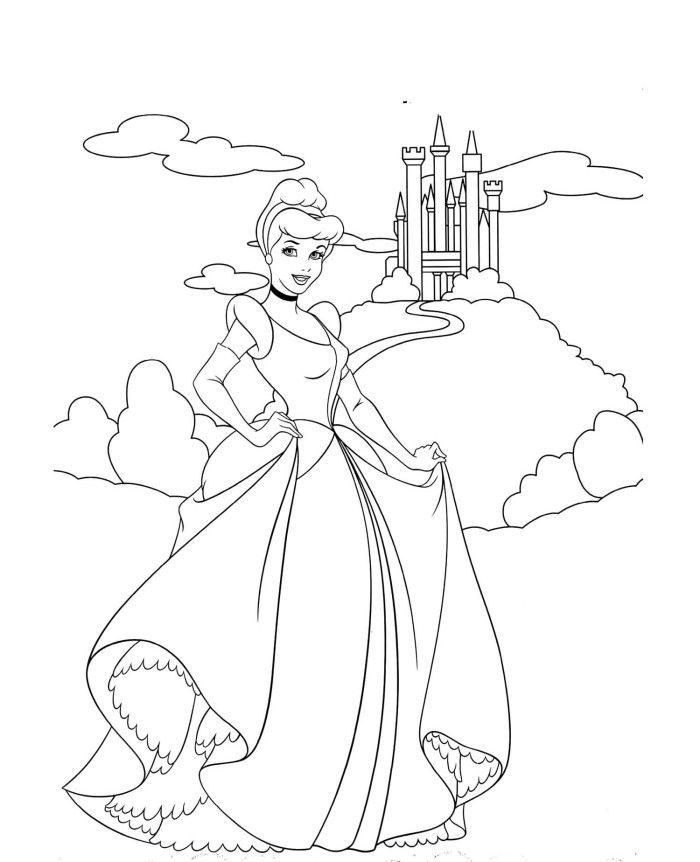 Disney Castle Coloring Pages Printable