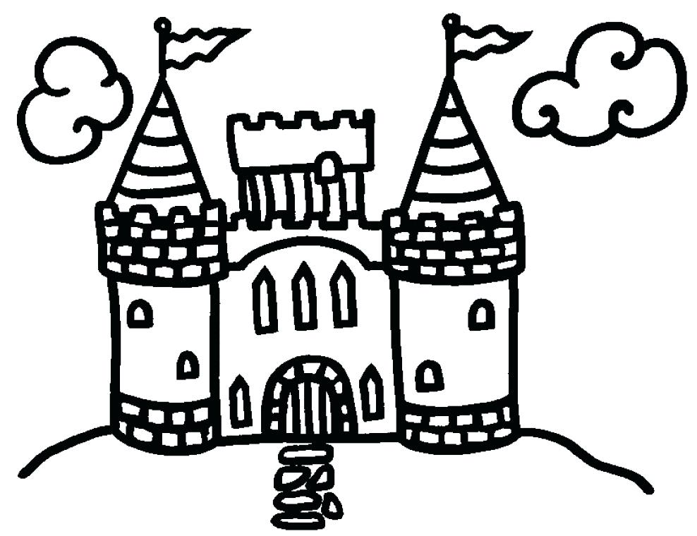 Disney Castle Coloring Pages Printable At Getdrawings Com Free For