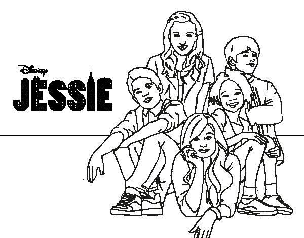 600x470 Jessie Coloring Pages Disney Channel Coloring Pages Printable