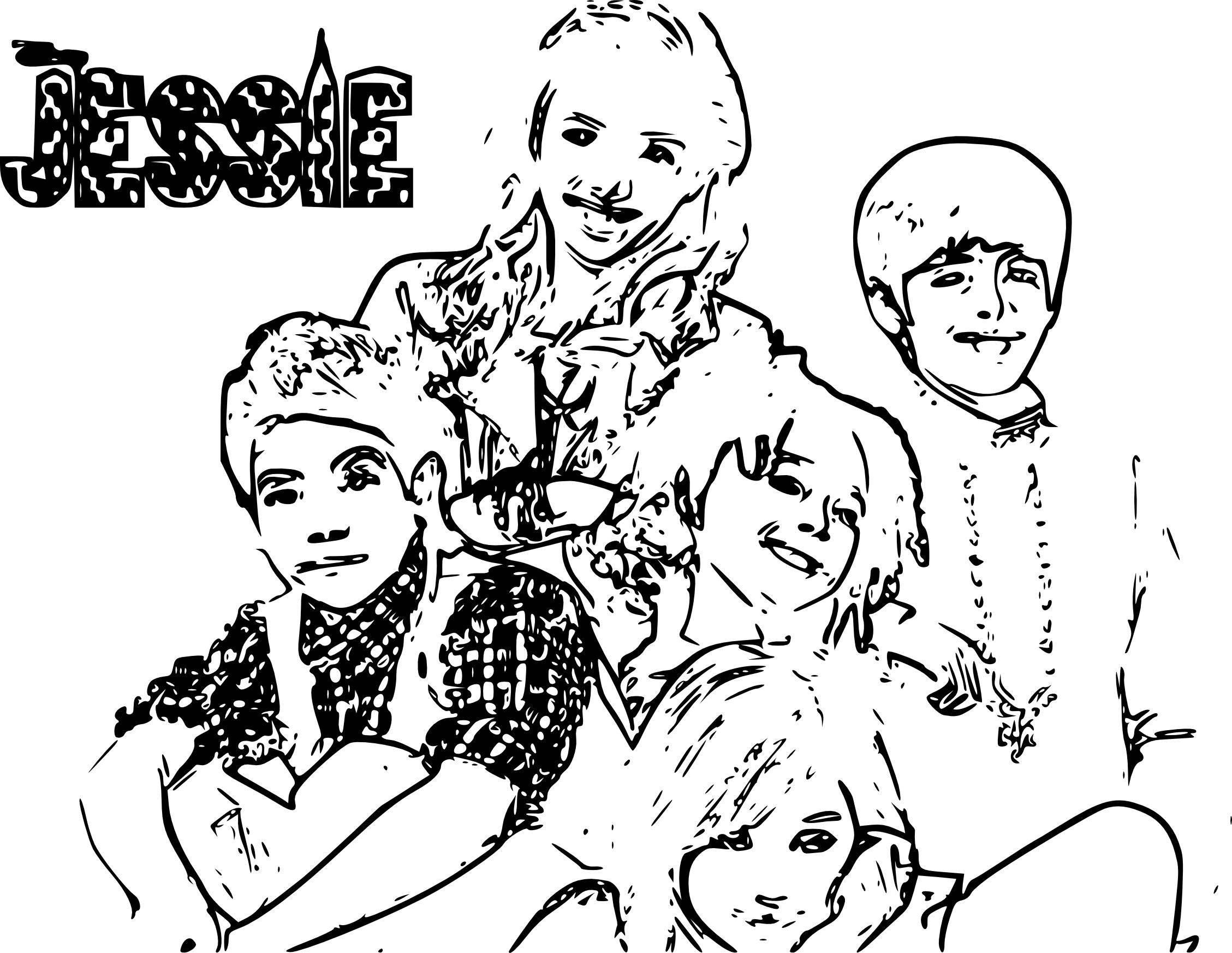 2257x1745 New Jessie Coloring Pages To Print Disney Channel Jessie Coloring