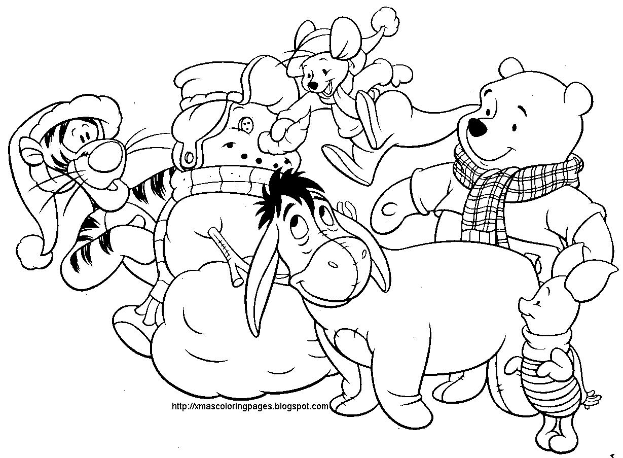 1229x903 Dibujos Para Imprimir Disney Christmas Coloring Pages