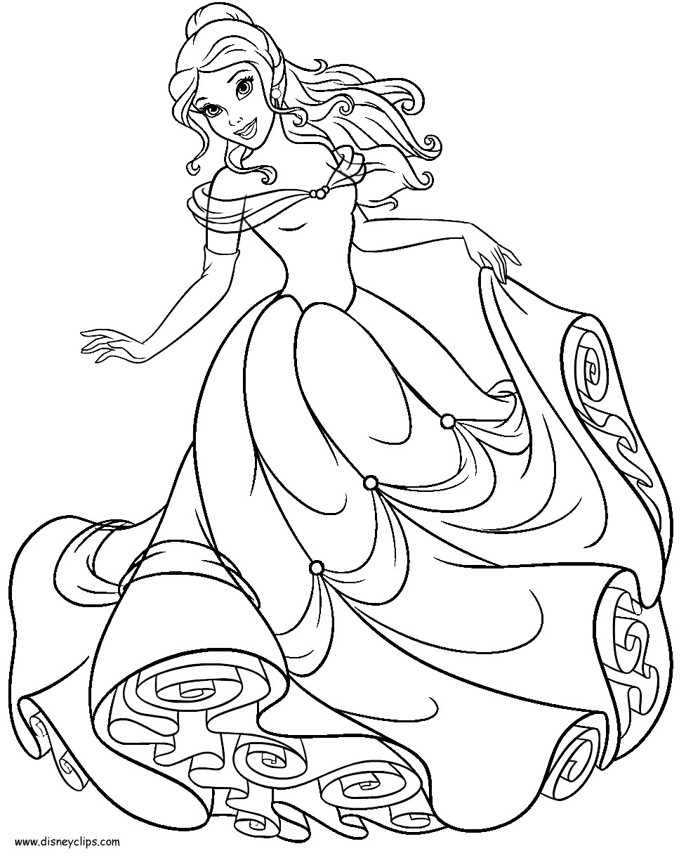 977x1221 Disney Belle Coloring Pages Princess And Throughout Bloodbrothers