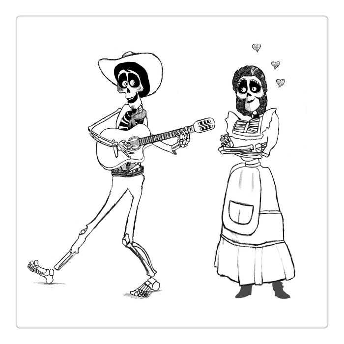 Disney Coco Coloring Pages At Getdrawings Com Free For Personal