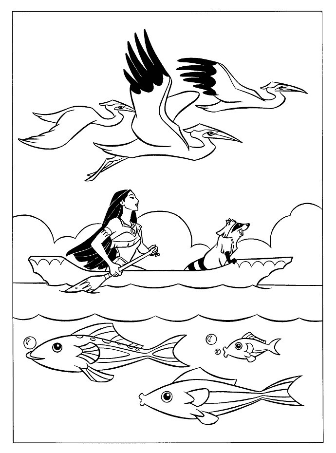 690x930 Disney Color And Play Coloring Pages Unique Pocahontas Up Boat
