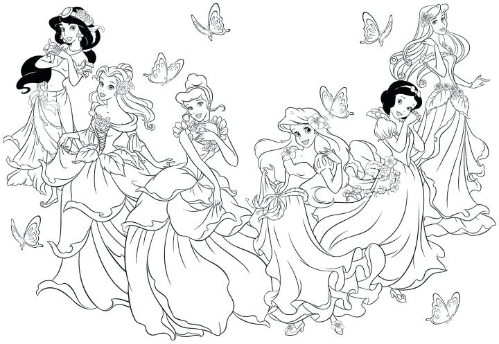 720x497 Disney Coloring Book Pages Princess Printable Coloring Pages
