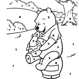 Disney Color By Numbers Coloring Pages At Getdrawings Free Download
